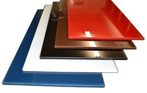 Glas nach Maß Rot Grau Weiß Matt Zuschnitt Glasplatte Glasscheibe farbiges Glas