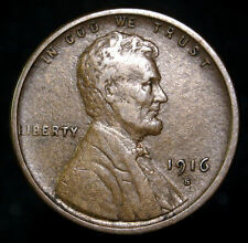 1916-S LINCOLN HEAD WHEAT CENT PENNY nice higher grade coin (K 1208)