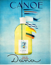 PUBLICITE ADVERTISING  1964   DANA  eau de Cologne  CANOE
