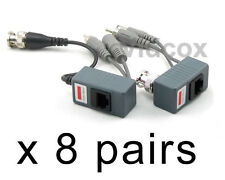 NEW 8Pairs CCTV Video Audio Power Balun BNC to Cat5 /6 UTP Cable for CCTV Camera