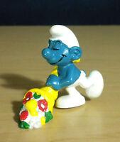 Smurfs Cornucopia Smurf 20117 Horn of Plenty Vintage Figure PVC Toy Figurine Lot
