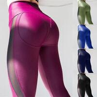 Damen Yoga Fitness Leggings Leggins Traininghose Jogginghose Sport Hoch Taille