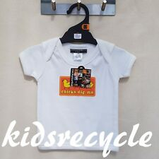 ROCKYOURBABY Baby BOYS (white) DESIGNER Top T-SHIRT Tee KIDS Size 00(3-6mth) NEW