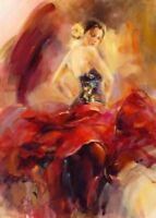 ZOPT170 high quality 100% hand painted dancing girl art OIL PAINTING ON CANVAS