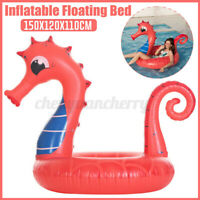 Inflatable Seahorse Lounger Mat Bed Swimming Pool Beach Float Summer Adult Kids