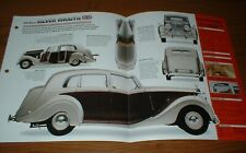 ★★1950 Rolls-Royce Silver Fantasma Spec Hoja Folleto Información Póster Foto Pic