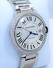 Cartier Ballon Bleu W69012Z4 2.25CT Diamond Bezel 42MM XL Size Watch *BRAND NEW