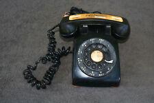 Old Black Telephone Phone ANTIQUE Advertising Funeral Spooky Solid Bell Western