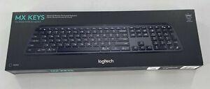 Logitech Black Authentic MX Keys Advanced Wireless Illuminated Keyboard