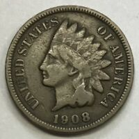 1908 INDIAN HEAD CENT **** NICE CIRCULATED COIN - L@@K AT PICTURES!!!!!  #1213