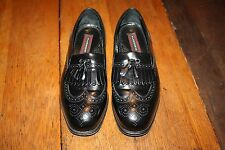 EXCELLENT Florsheim Lexington Tassle Loafer Leather Black Sz 8.5 3E Extra Wide