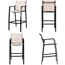 Set of 4 Patio Kitchen Counter Bar Stools Steel Frame Seat Outdoor/Indoor Stool