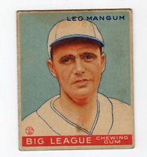 1933 V353 World Wide Gum  Baseball Card Leo Mangum Boston Braves
