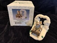 Charming Tails Snow Fun Dashing Through the Snow Mouse on Sled 87624 Mint in Box