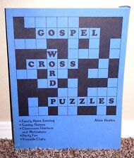 GOSPEL CROSSWORD PUZZLES GREAT FOR FAMILY & CHURCH by Alma Heaton LDS MORMON PB