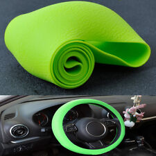 New Green Car Auto Silicone Steering Wheel Cover Protector Shell Leather Texture