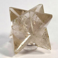 "2.3"" Natural Smoky Quartz 8 Point Merkaba Star Gemstone Crystal Mineral - India"
