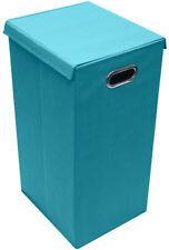 Sorbus Laundry Hamper Sorter with Lid Closure (Single, Aqua)
