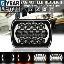 "7x6"" 5x7 200W LED Headlight Hi-Lo DRL Turn Signal Lamp for Ford GMC Pickup Truck"