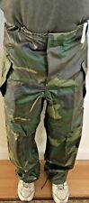 UNISSUED U.S. ARMY CAMOUFLAGE WET WEATHER TROUSER LARGE (NWT)