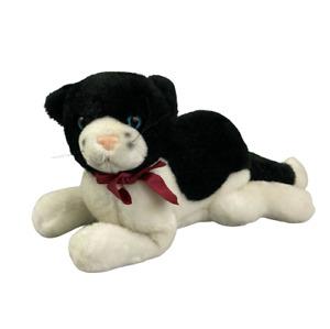 Applause Bravo Black White Tuxedo Plush Cat 13 inch Girl Cat Lover Gift