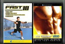 2 WORKOUT DVD: AB Ripper 200 Tony Horton & Fast 10 Michael George: DVD Lot