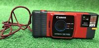 Rare Vintage Red Canon Snappy 20 35mm Film Camera With Strap
