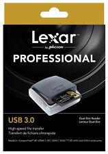 Lexar Professional USB 3.0 Dual Slot Reader Lecteur Dual Slot High Speed LRW400