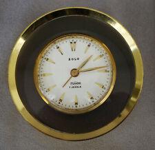 Pendulette Réveil  SOLO Tudor 7 Jewels Mouvement Mécanique Laiton Doré ca 1950
