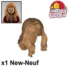 Lego - 1x Minifig cheveux coiffure hair long chair medium dark flesh 95225 NEUF