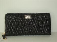 New Coach Madison Twist Leather Accordion Zip Around Wallet F49609