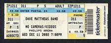 2002 Dave Matthews Band unused full concert ticket Atlanta Ga Busted Stuff