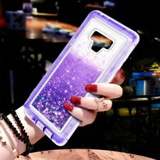 For Samsung Galaxy Note 9 Glitter Liquid Case(Clip Fits Otterbox Defender)Purple