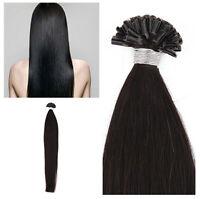 "18""20"" 100% Remy Human Hair Extensions Pre Bonded Nail U Tip Keratin Fusion 50S"