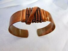 Man-Sized 70.5 Grams Signed P Heavy Solid Copper Cuff Bracelet