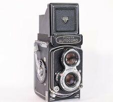Minolta Autocord Model L Film Camera w/ Rokkor 75mm f/3.5 Lens New Skin!