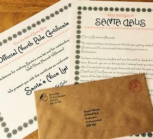 "Personalised Vintage Christmas Letter From Santa & ""Nice"" List Certificate 2021"