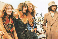 LED ZEPPELIN Signed 12x8 Photo JIMMY PAGE, ROBERT PLANT & JOHN PAUL JONES. COA