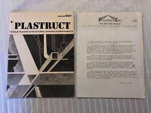 VINTAGE RARE 1968 PLASTRUCT CATALOG LOS ANGELES CA MODEL RAILROADING TRAIN PARTS