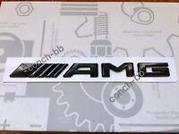 Mercedes AMG Rear Boot Badge Emblem Decals New Style Flat Version Gloss Black