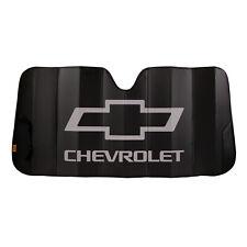 New CHEVY Black Car Truck Suv Van Front Windshield Accordion Folding Sun Shade