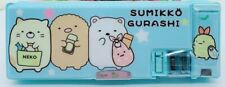San-X Sumikko Gurashi Pencil Case Box Magnetic Two Sided w/ Sharpener New Blue