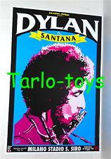 BOB DYLAN + SANTANA - Milano italy 24 giugno 1984  poster concerto
