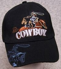 Embroidered Baseball Cap Cowboy Rodeo Riding NEW 1 hat size fits all