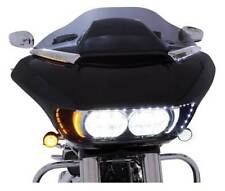 Ciro Horizon LED Lighted Windshield Trim, Fits H-D Road Glide - Chrome 11050