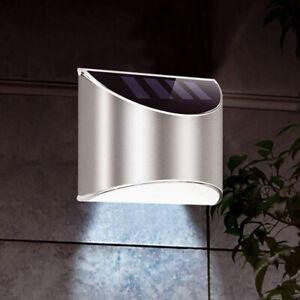 4 LED Solar Powered Gutter Lights Outdoor Fence Garden Wall Lamp Waterproof