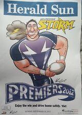 Melbourne Storm 2012 NRL Grand Final Premiership Poster