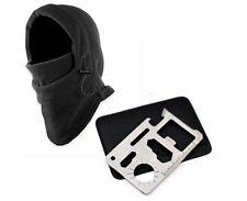 Man CS Warm thermal winter Hiking Ski Bike Head Wrap Mask Hat Cap hood W/Knife