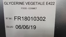 GLYCERINE VEGETALE 99.5% PURE ALIMENTAIRE E422  250ml