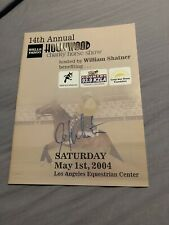 Rare William Shatter Bill Signed 2004 Hollywood Charity Horse Show Program Auto